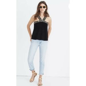 Madewell Black Knit Sleeveless Swing Top Size XS